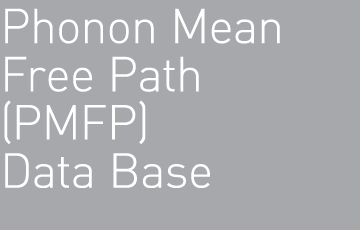 Phonon Mean Free Path (PMFP) Data Base